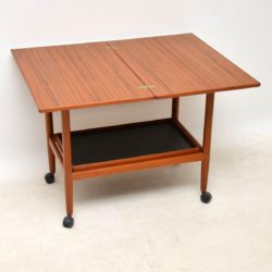 danish teak vintage drinks trolley