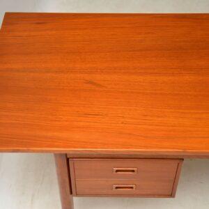 danish teak drop leaf vintage desk