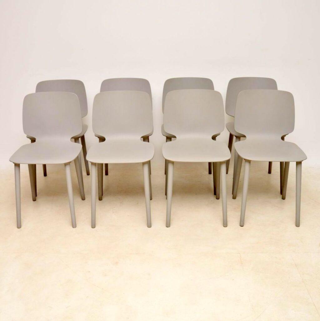 vintage italian modernist dining chairs pedrali babila