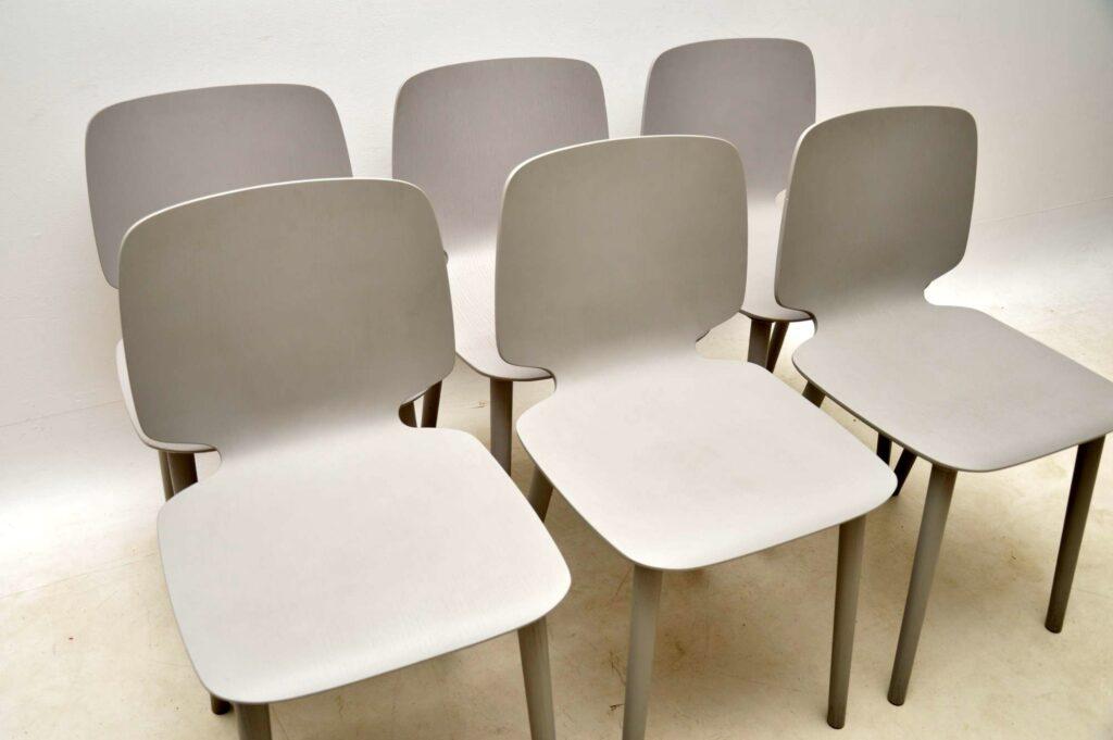 set of vintage modernist italian dining chair pedrali babila