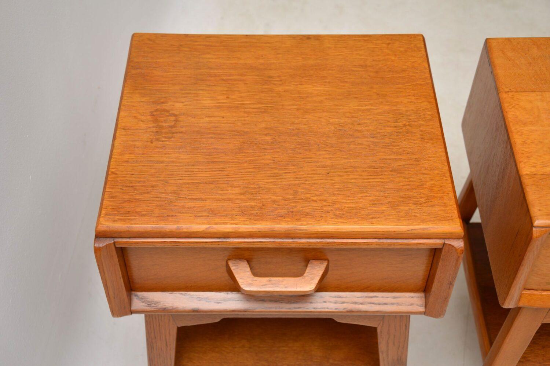 pair of vintage oak bedisde tables brandon by g- plan