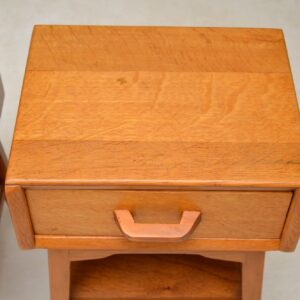 1950's Pair of Vintage Oak Bedside Tables by G- Plan