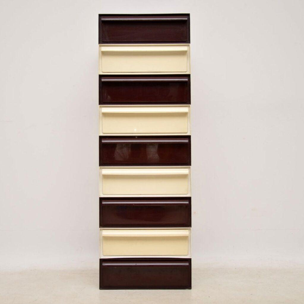 retro 1970s plastic filing chest of drawers