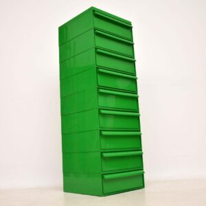 1970's Vintage Plastic Stacking Filing Chest of Drawers by Interstore