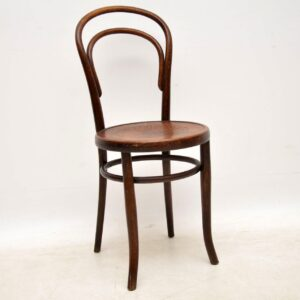 set of three antique bentwood thonet fischel chairs
