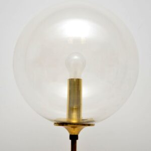vintage brass and glass bubble lamp