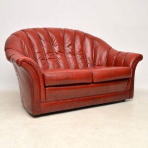 danish leather vintage sofa armchair