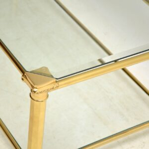 vintage french brass coffee table 1970s
