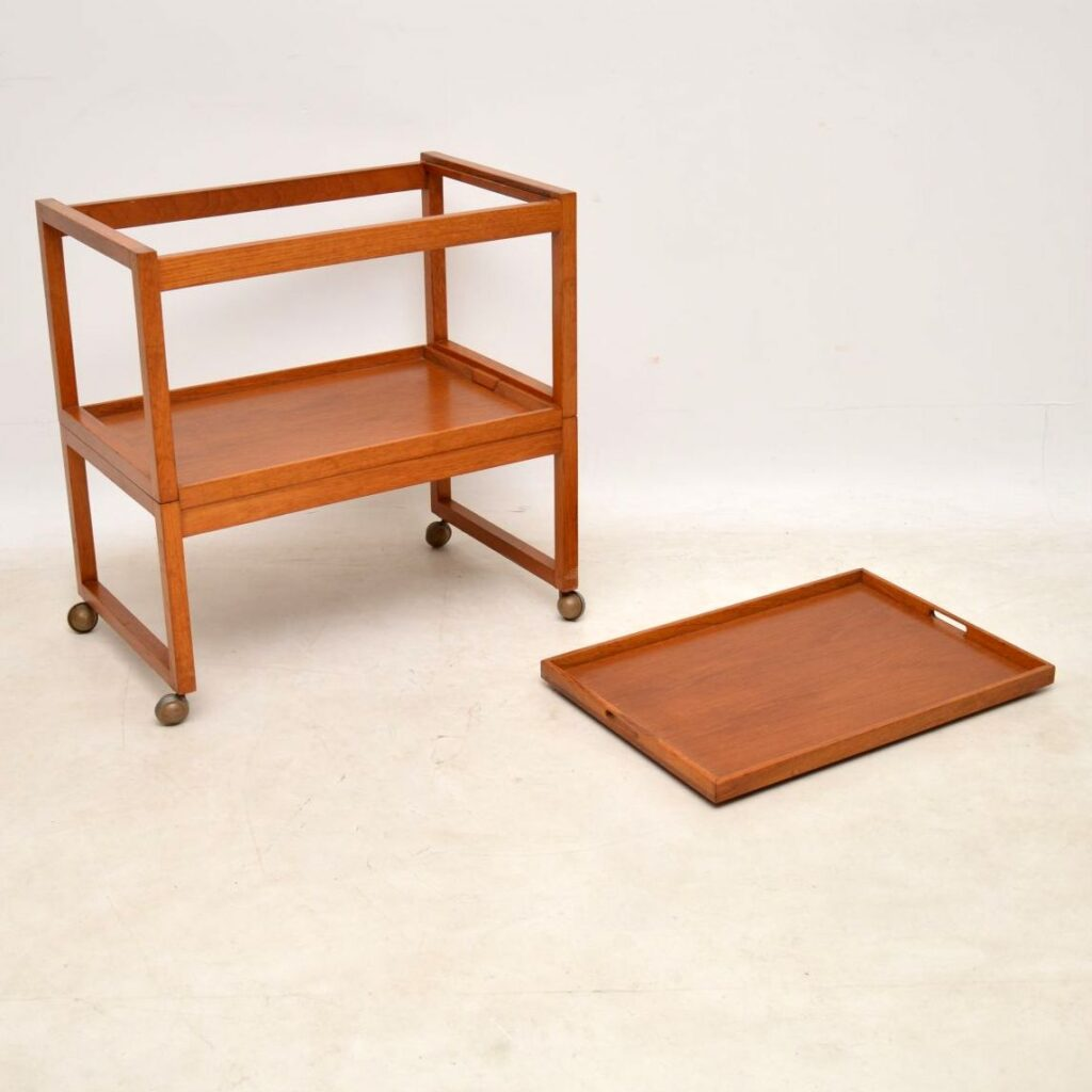 teak vintage drinks trolley by white and newton