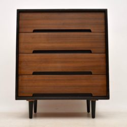 vintage walnut chest of drawers john & sylvia reid for stag c range