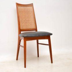danish teak vintage retro dining chairs niels koefoed