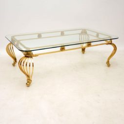 vintage antique french brass coffee table