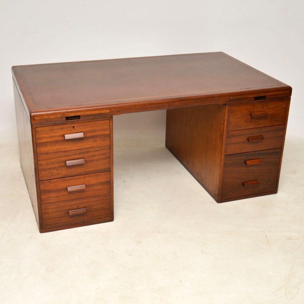 1950's Vintage Mahogany Desk by Waring & Gillow
