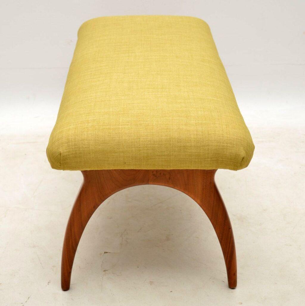 vintage italian walnut foot stool