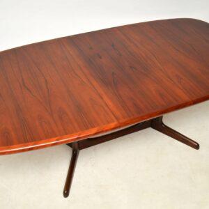 danish rosewood vintage retro extending dining table
