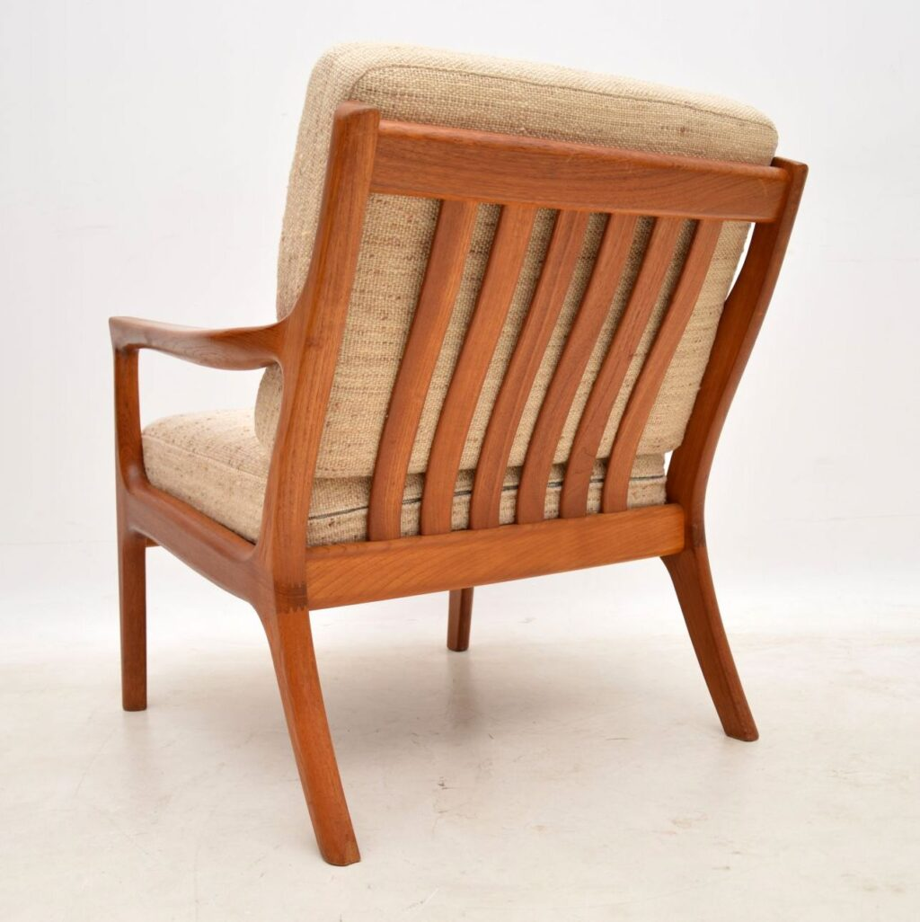 danish teak vintage ole wanscher armchair