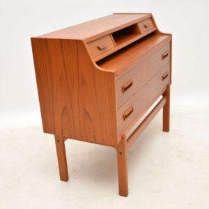 danish teak vintage writing bureau arne wahl iversen