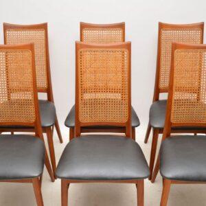 1960's Set of 6 Danish Teak Dining Chairs by Niels Koefoed