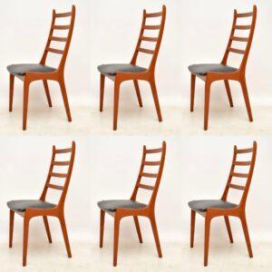 danish teak kai kristiansen dining chairs