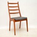 1960's Set of 6 Danish Teak Dining Chairs by Kai Kristiansen