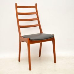 set of six danish teak dining chairs kai kristiansen