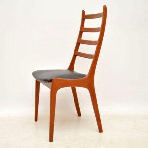 set of six danish teak dining chairs kai kristiansen