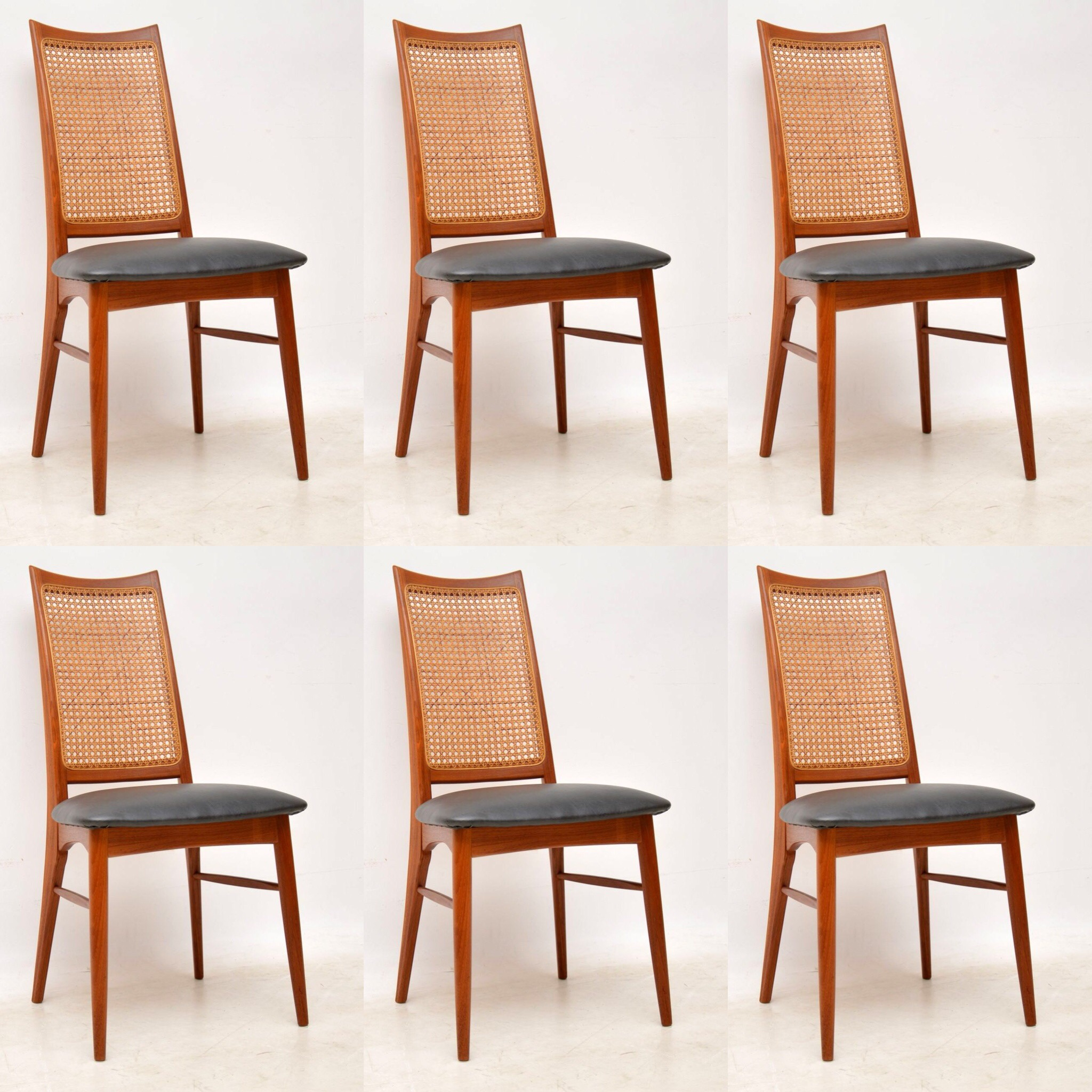 Danish teak retro dining chairs by niels koefoed vintage 1960s