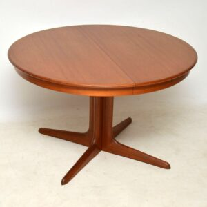 danish teak retro dining table niels koefoed