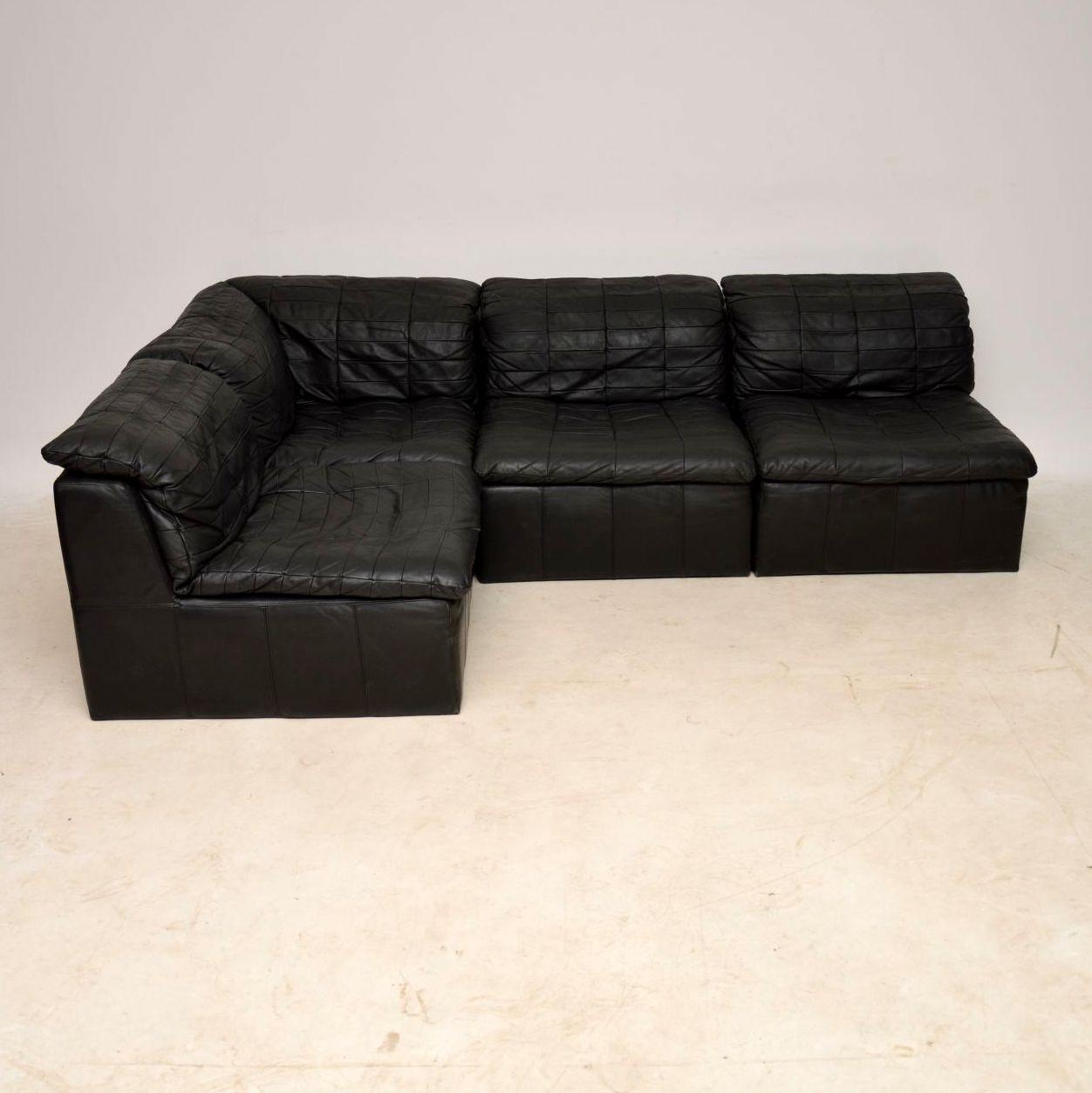 Black Leather Corner Sofa Ebay: DANISH RETRO LEATHER MODULAR CORNER SOFA VINTAGE 1960's