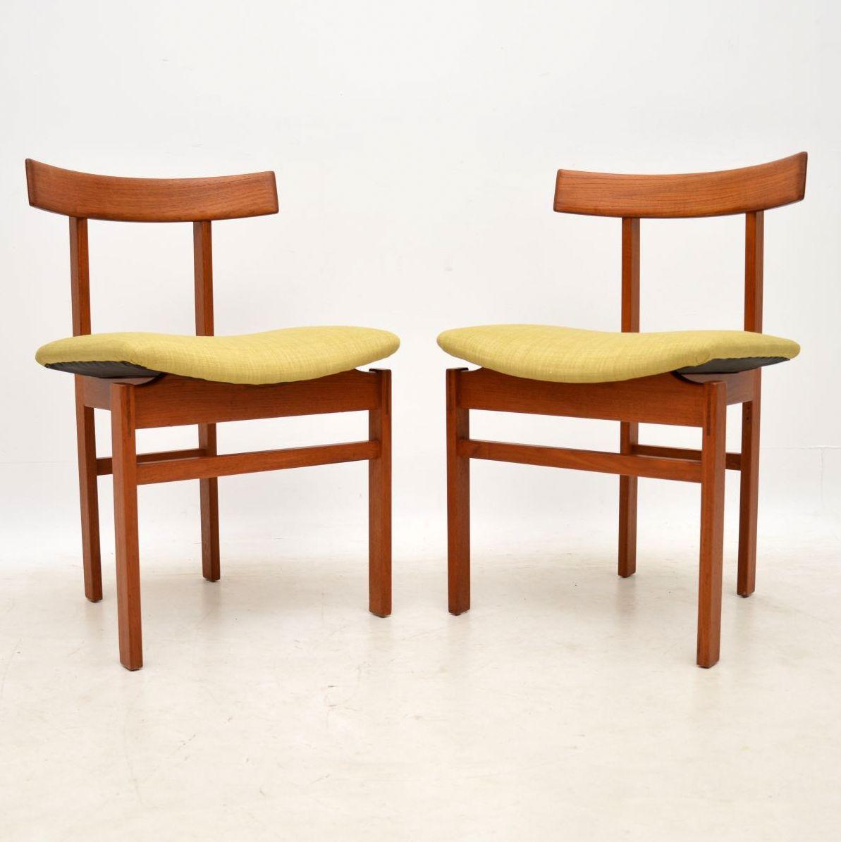 pair of danish teak chairs inger klingenberg france and son