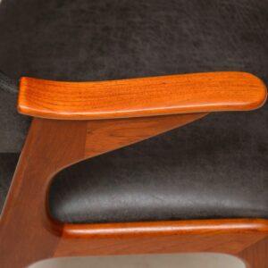 danish teak and leather armchair by arne hovmand-olsen