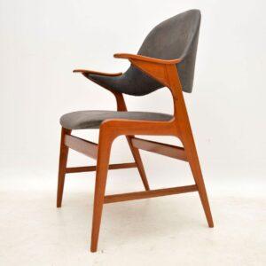 1960's Danish Teak & Leather Armchair by Arne Hovmand-Olsen