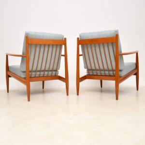 pair of danish vintage retro armchairs
