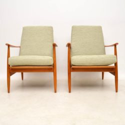 pair of danish vintage armchairs