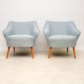 1950's Pair of Vintage Cocktail Armchairs