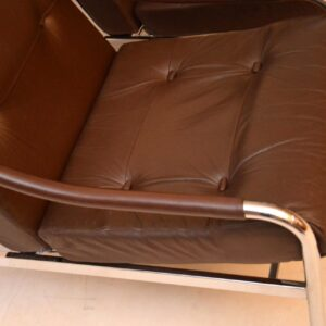 pair of vintage leather armchairs by pieff
