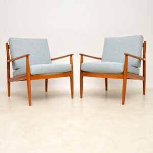 1960's Pair of Vintage Danish Armchairs