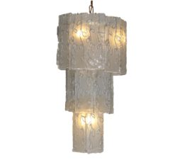 retro vintage glass chandelier
