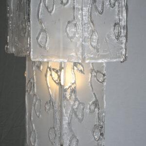 retro vintage glass chandelier