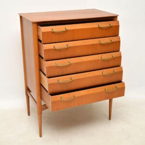 vintage retro satinwood chest of drawers