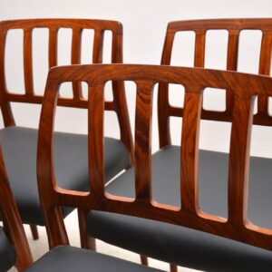 set of eight danish rosewood vintage dining chairs niels moller 83