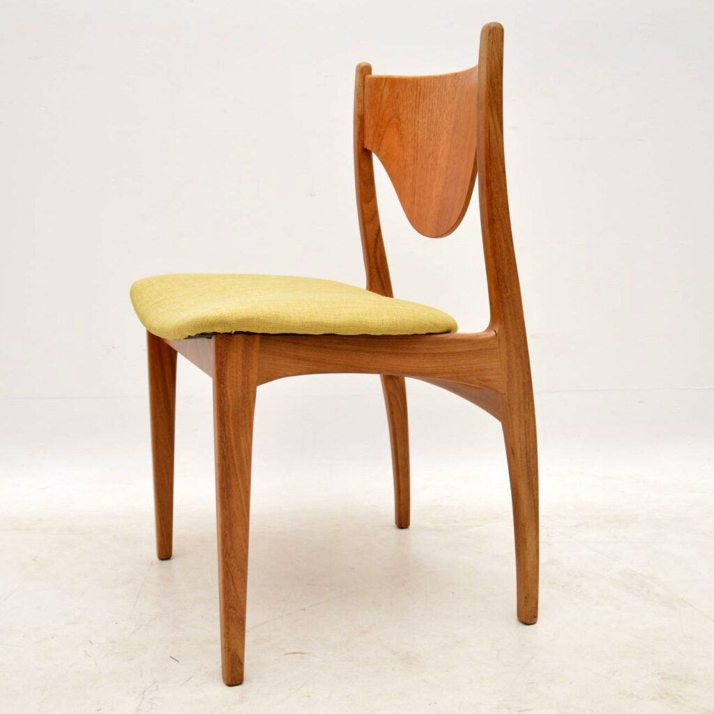 set of four g- plan teak danish dining chairs