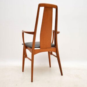 danish teak retro vintage dining chairs niels koefoed