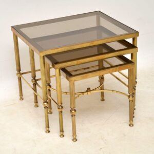 vintage french brass nest of tables