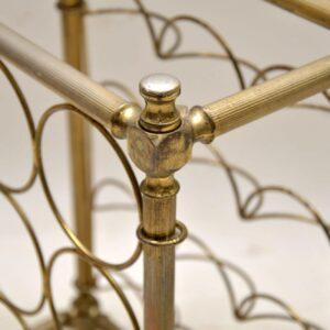 vintage italian brass bottle wine rack