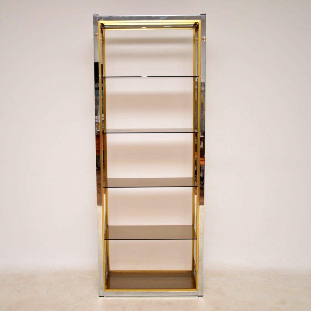 vintage retro italian bookcase cabinet zevi