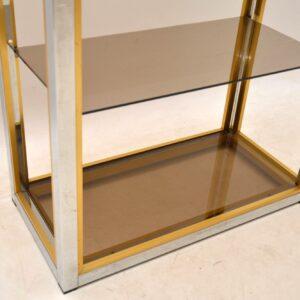 1970's Italian Chrome Bookcase / Display Cabinet by Zevi