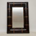 vintage_leather_gilt_wood_mirror_1