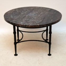 1950's Vintage Marble & Wrought Iron Coffee Table