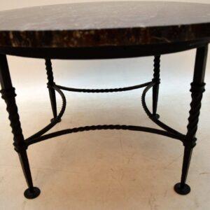 vintage retro antique marble top coffee table
